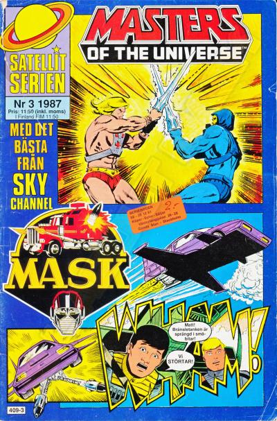 M.A.S.K. MASK Swedish Satellit Comic 1987 No. 3