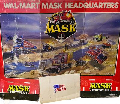 M.A.S.K. Walmart MASK Footwear Display