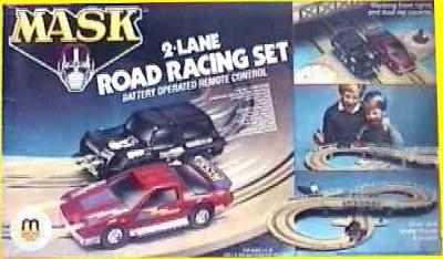 M.A.S.K. M.A.S.K. Slotracing set blue box Thunderhawk & Jackhammer