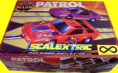 M.A.S.K. M.A.S.K. SCALEXTRIC slotracing set Thunderhawk & Manta
