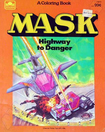 M.A.S.K. M.A.S.K. Coloring book Highway to danger