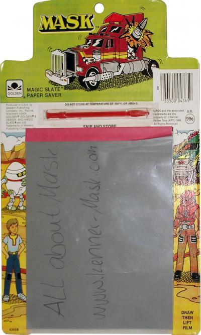 M.A.S.K. M.A.S.K. magic slate paper saver