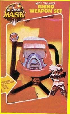 M.A.S.K. M.A.S.K. Matt Trakker Rhino Weapon set with Spectrum mask