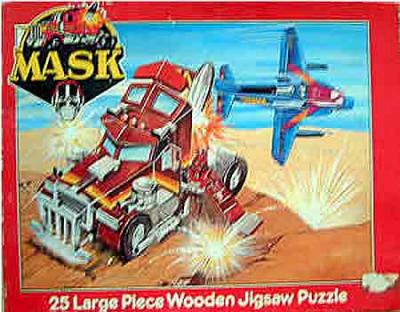 M.A.S.K. M.A.S.K. Wooden jigsaw puzzle 25 pieces Rhino & Switchblade