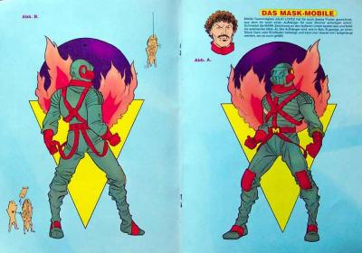 M.A.S.K. Textra to tinker from a german comic