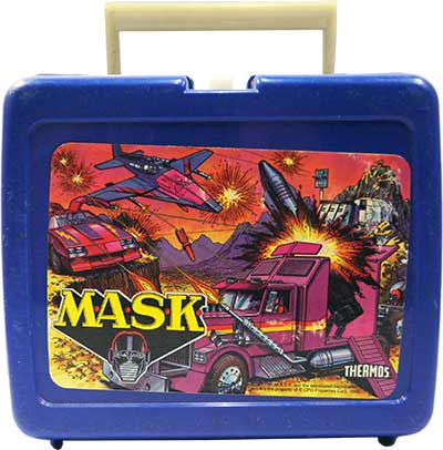 M.A.S.K. M.A.S.K. Lunchbox blue Thunderhawk, Rhino, Boulder Hill & Switchblade