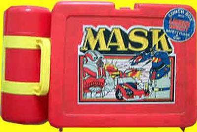 M.A.S.K. M.A.S.K. Lunchbox red Matt Trakker, Miles Mayhem, Thunderhawk & Switchblade