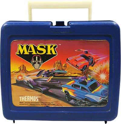 M.A.S.K. M.A.S.K. Lunchbox blue Thunderhawk, Hurricane & Buzzard