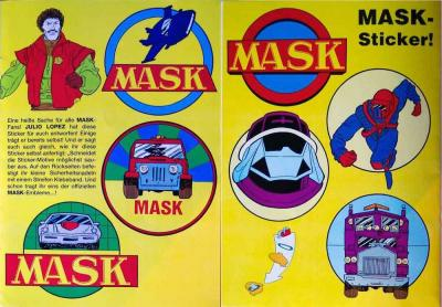 M.A.S.K. Sticker from a german comic