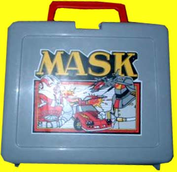M.A.S.K. M.A.S.K. Lunchbox grey Matt Trakker, Miles Mayhem, Thunderhawk & Switchblade