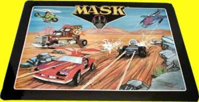 M.A.S.K. Underlay dining table Thunderhawk, Rhino, Condor & Switchblade, Jackhammer & Piranha