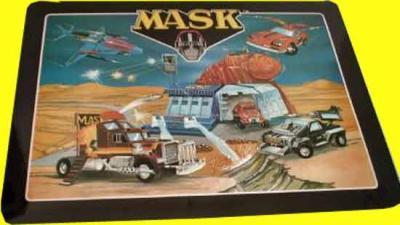 M.A.S.K. Underlay dining table Thunderhawk, Rhino, Boulder Hill, Switchblade & Jackhammer