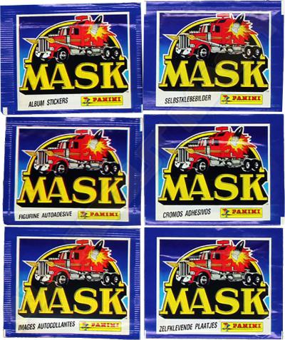 M.A.S.K. M.A.S.K. Panini Packs with sticker europe