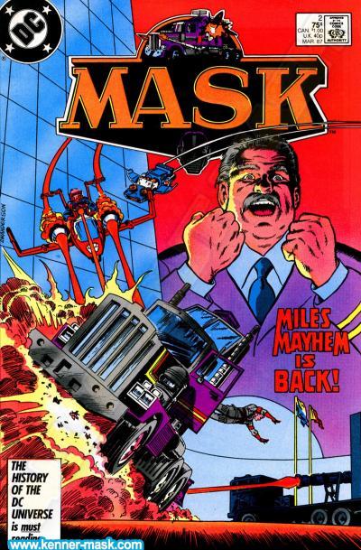 M.A.S.K. M.A.S.K. DC comic 1987 #2/9 Masquerade