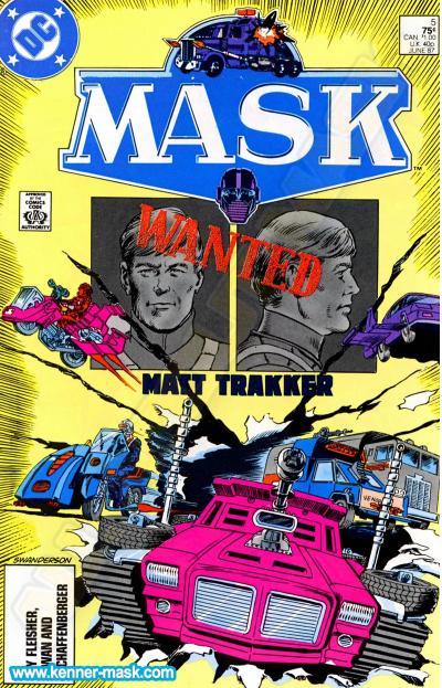 M.A.S.K. M.A.S.K. DC comic 1987 #5/9 African Nightmare