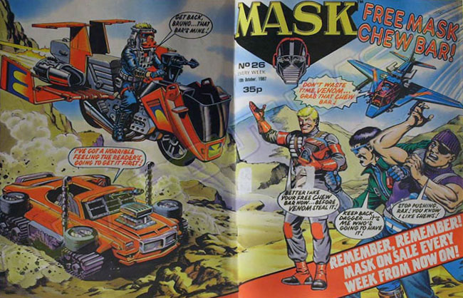 M.A.S.K. M.A.S.K. UK comic No. 26 - 10/10/1987 - from now on weekly