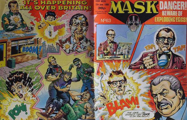 M.A.S.K. M.A.S.K. UK comic No. 63 - 25/06/1988