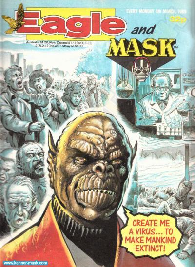 M.A.S.K. M.A.S.K. UK Eagle comic no. 363 - 04/03/1989