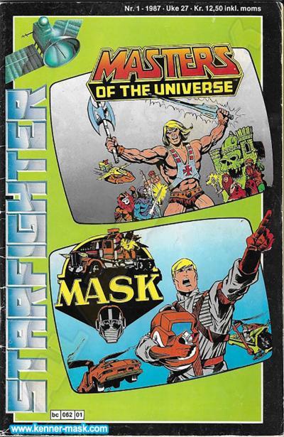 M.A.S.K. M.A.S.K. Norwegian Starfighter comic 1987 no. 1