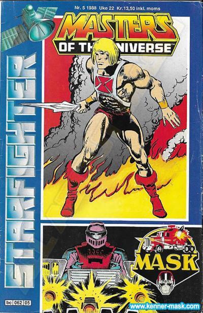 M.A.S.K. M.A.S.K. Norwegian Starfighter comic 1988 no. 5