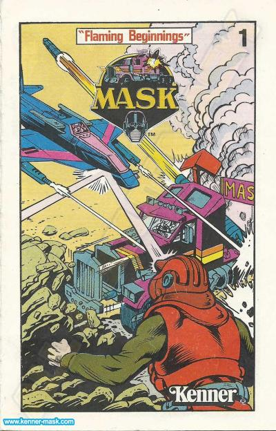 M.A.S.K. Insert Comic 1 Flaming Beginnings