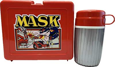 M.A.S.K. M.A.S.K. Bluebird UK Lunchbox red & silver thermos Matt Trakker & Miles Mayhem