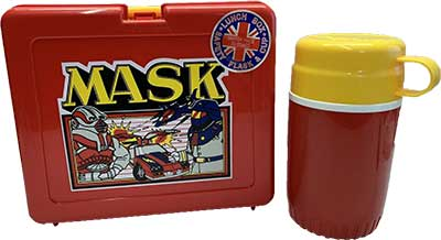 M.A.S.K. M.A.S.K. Bluebird UK Lunchbox red & red thermos Matt Trakker & Miles Mayhem