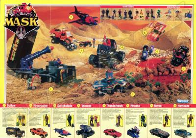 M.A.S.K. M.A.S.K. Europe poster second toyline