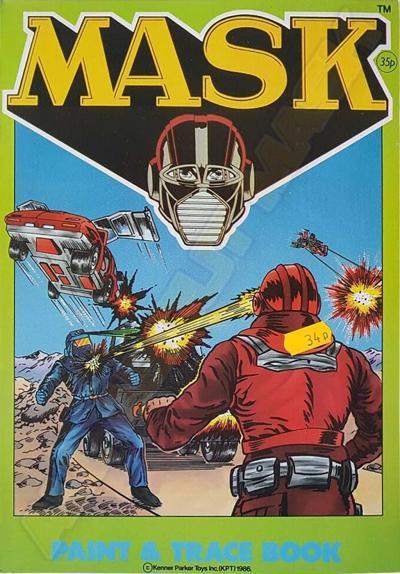 M.A.S.K. M.A.S.K. Coloring book Paint and trace book Matt Trakker, Miles Mayhem, Thunderhawk, Jackhammer & Vampire