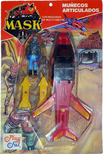 Adventure set with Slingshot plane in red and with Sly Rax