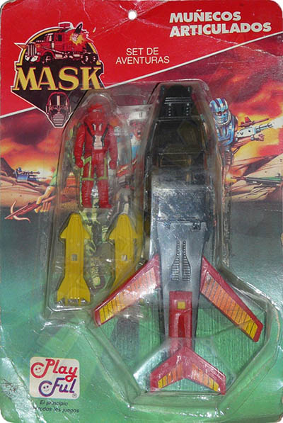 Adventure set with Slingshot plane in charcoal/red with Ace Riker