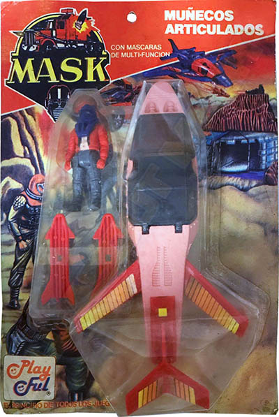 Adventure set with Slingshot plane in pink/red with Ace Riker