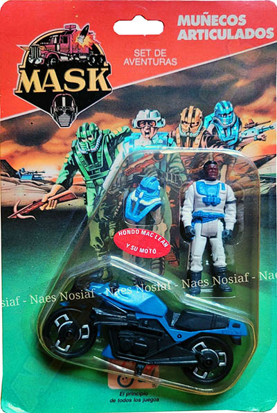 Adventure set with Firecracker motorcycle in blue and Hondo MacLean